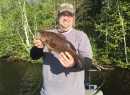 Junior with a 2015 smallie on Turtle Flowage